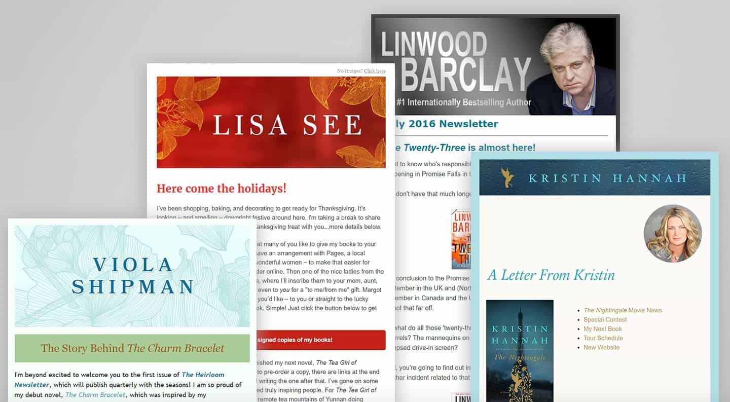 Author Newsletter Design