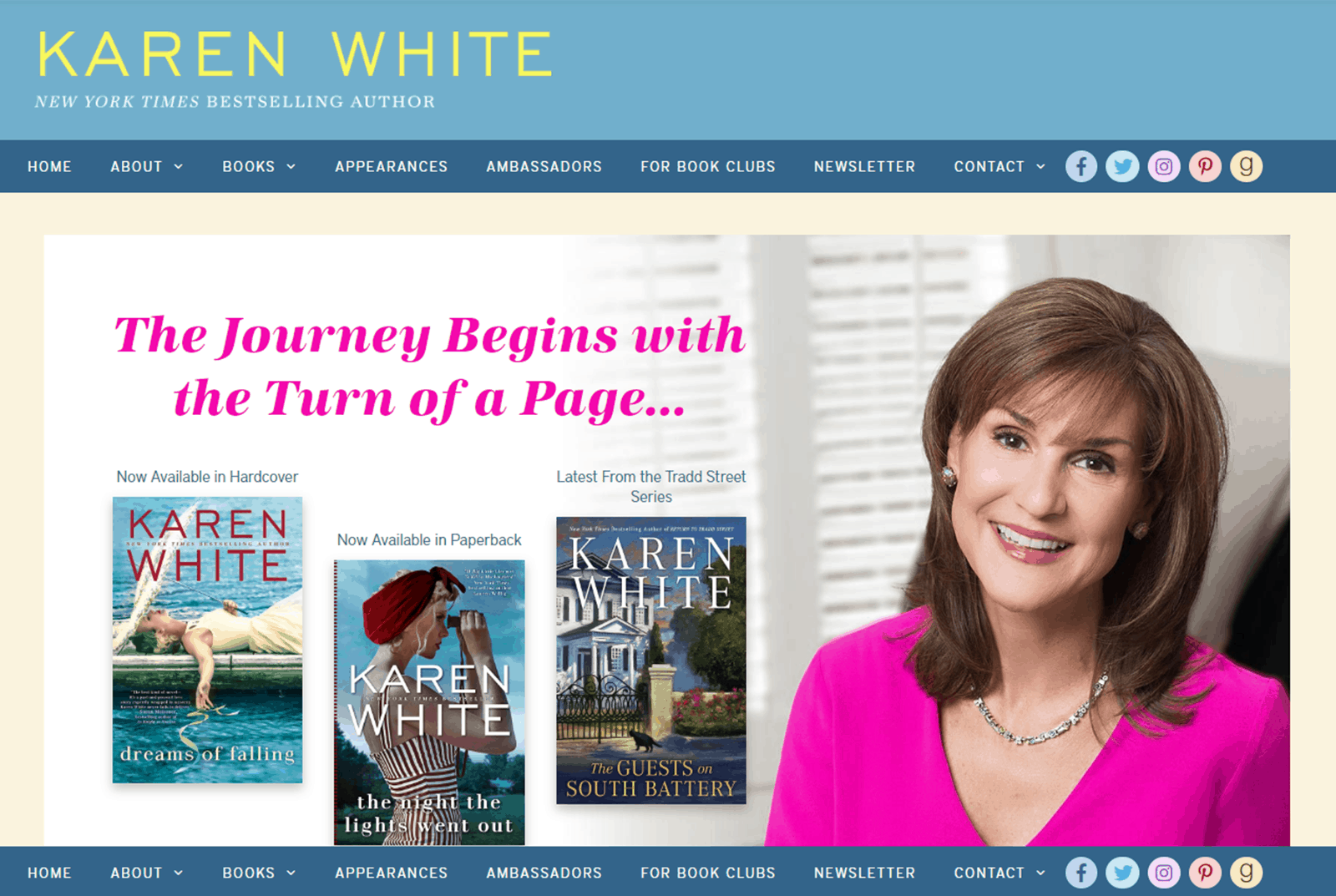 Karen White 2018 Website Update