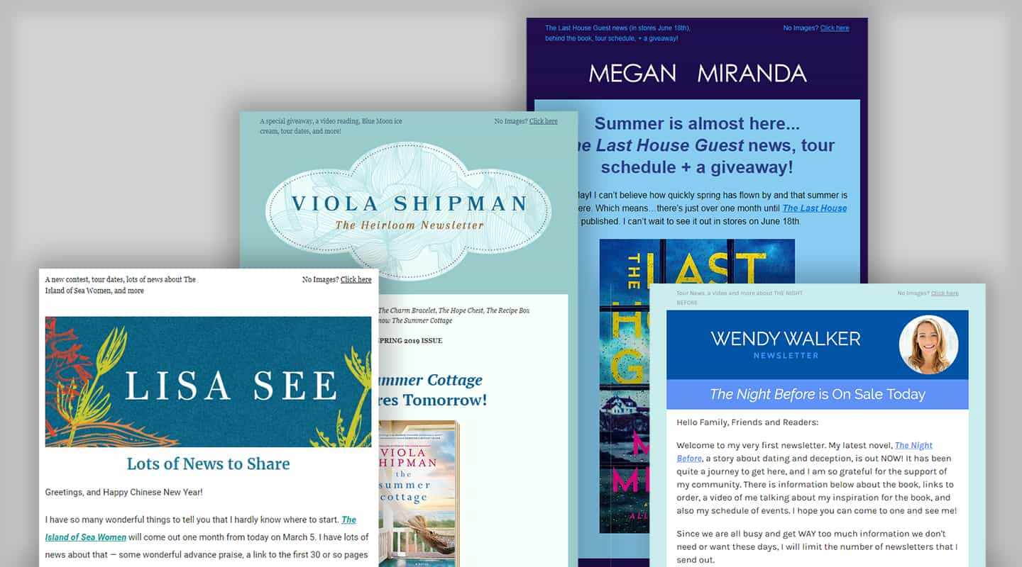 Author Newsletter Design May 2019